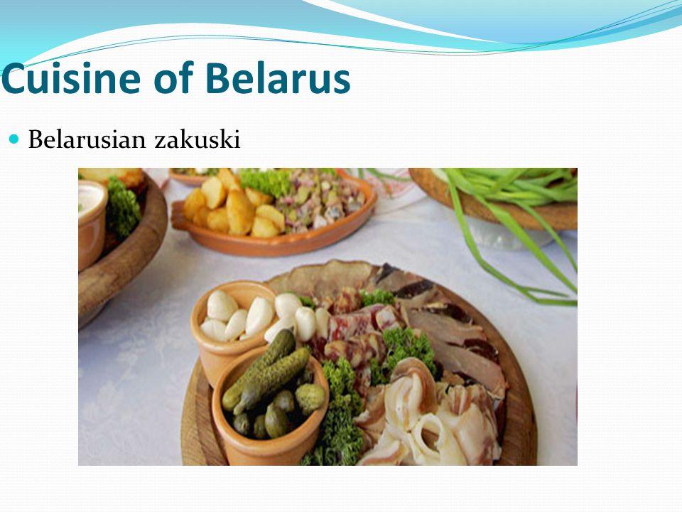 Cuisine of Belarus Belarusian zakuski