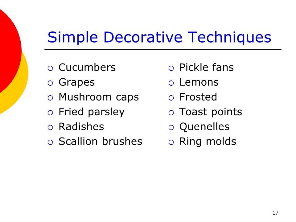 Simple Decorative Techniques
