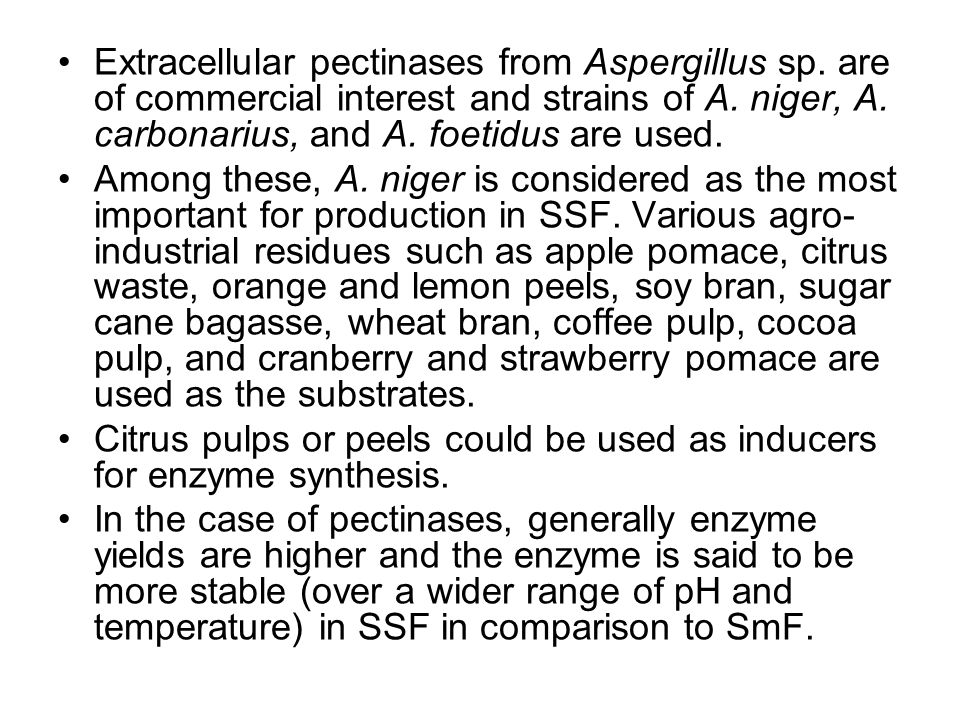 Extracellular pectinases from Aspergillus sp