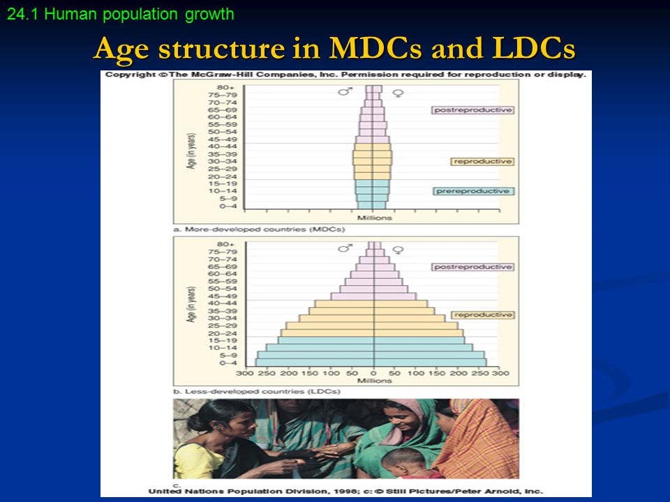 Age structure in MDCs and LDCs