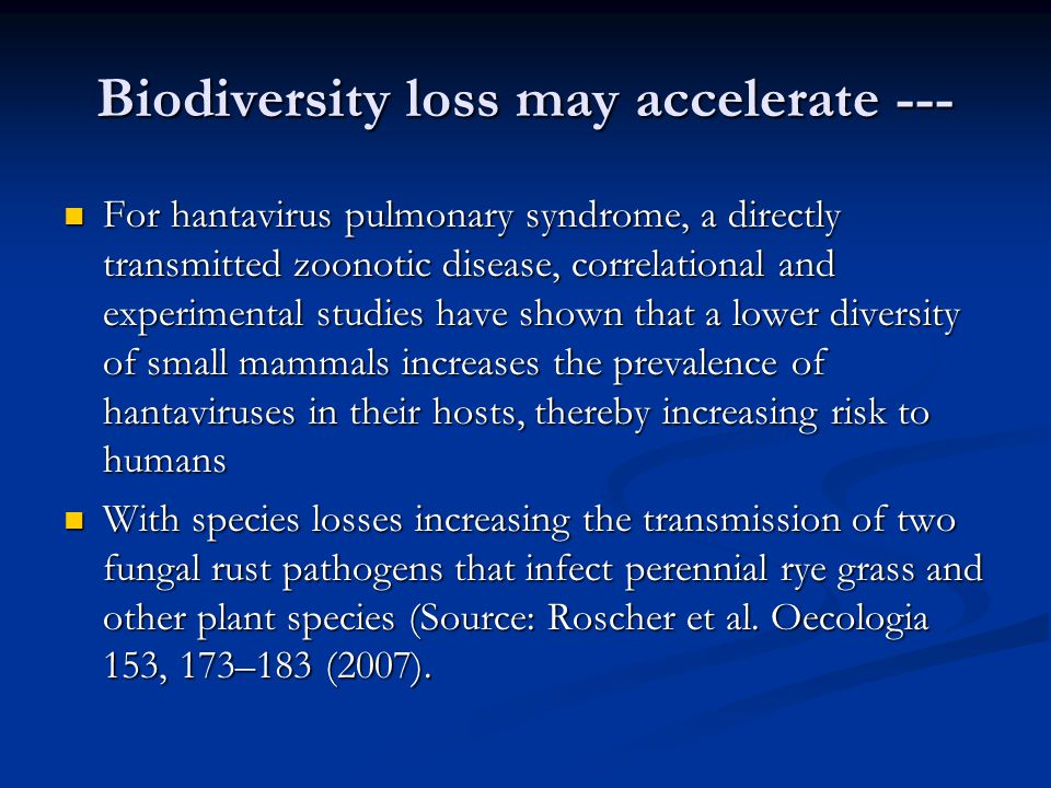 Biodiversity loss may accelerate ---