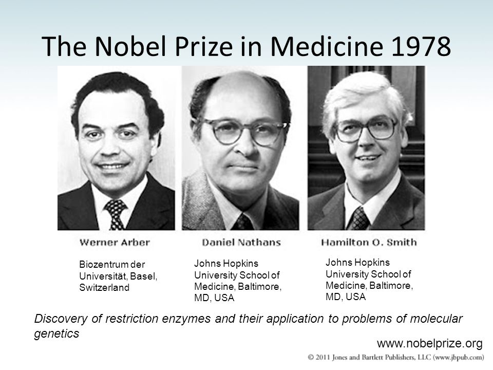 The Nobel Prize in Medicine 1978
