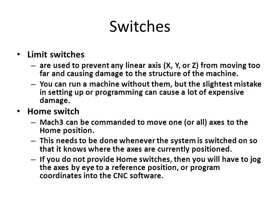 Switches Limit switches Home switch