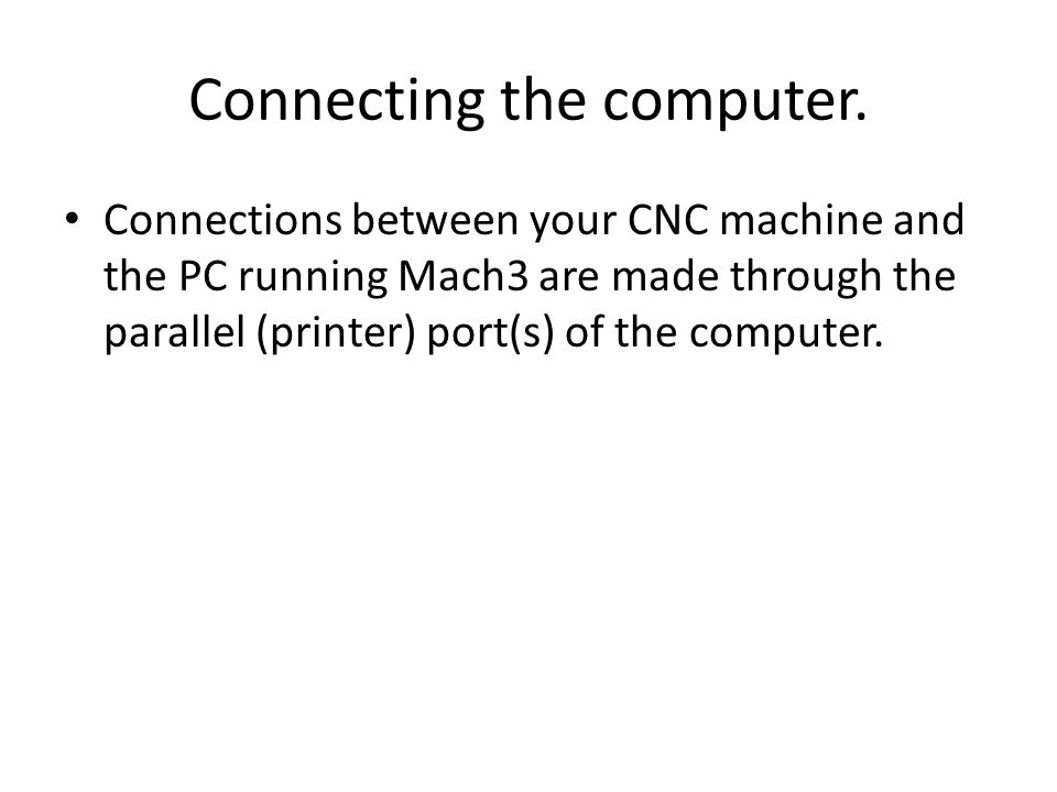 Connecting the computer.