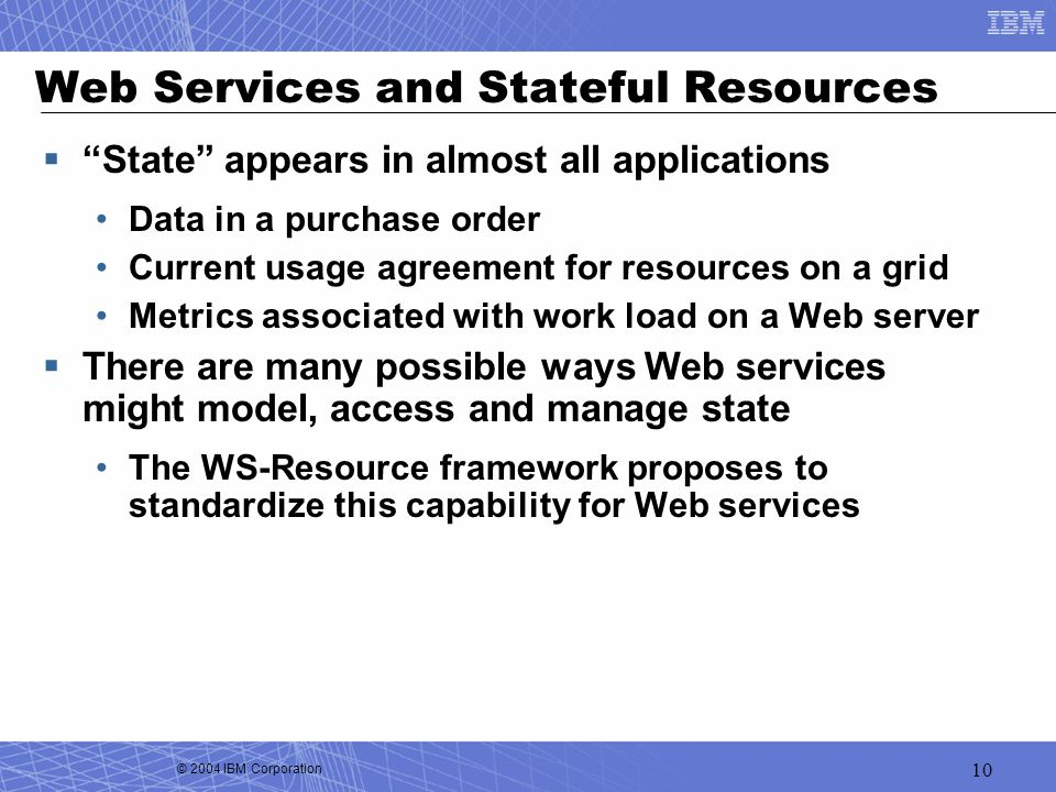 Web Services and Stateful Resources