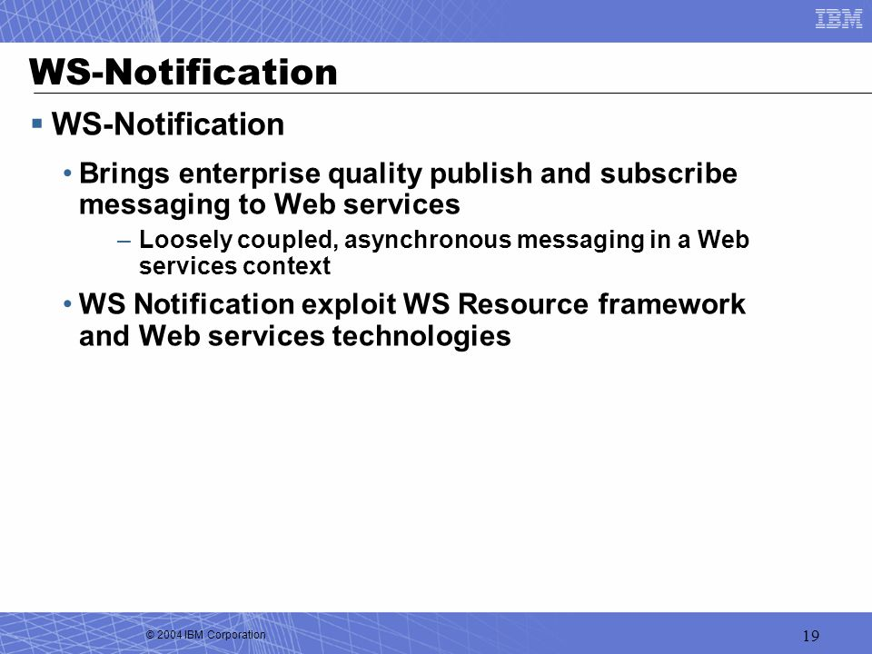 WS-Notification WS-Notification