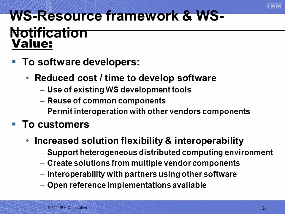 WS-Resource framework & WS-Notification