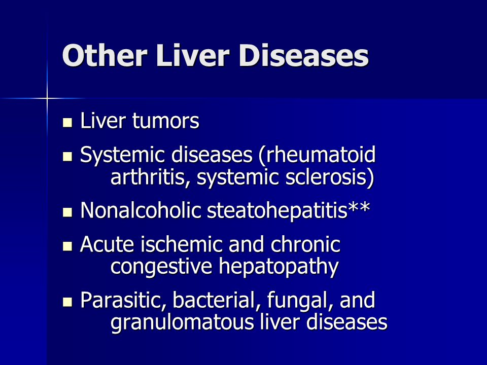Other Liver Diseases Liver tumors