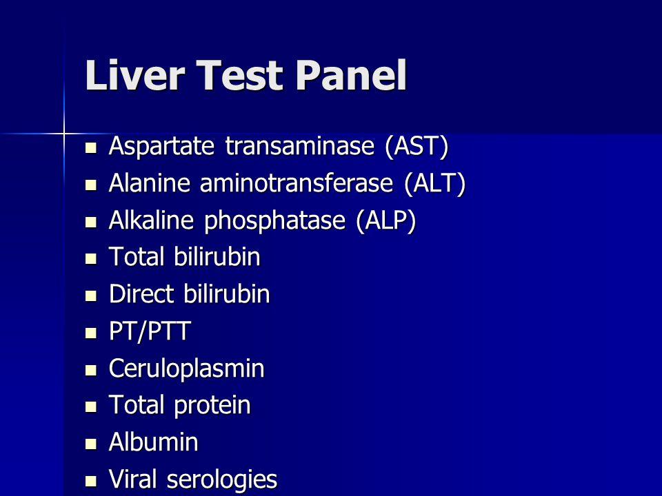 Liver Test Panel Aspartate transaminase (AST)