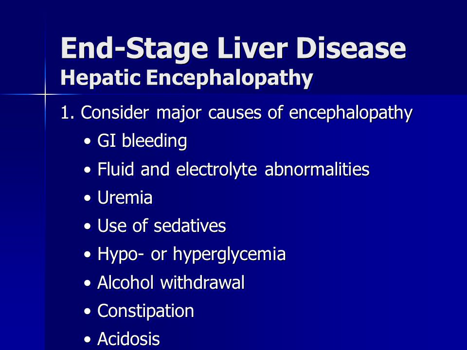 End-Stage Liver Disease Hepatic Encephalopathy