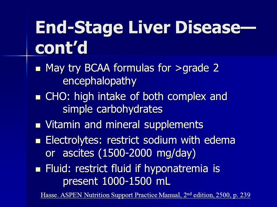 End-Stage Liver Disease—cont'd