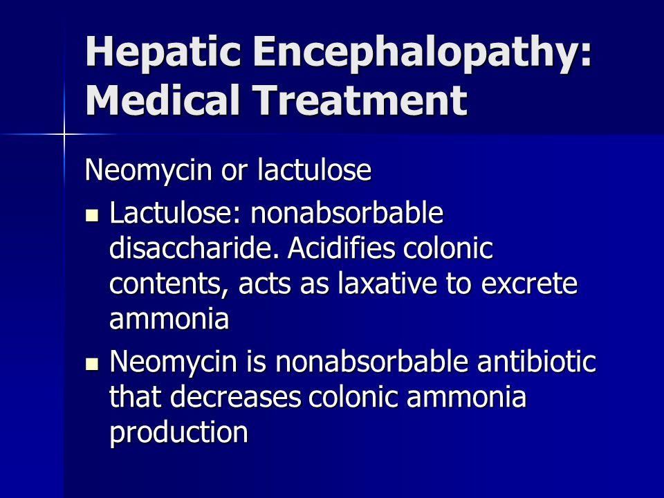 Hepatic Encephalopathy: Medical Treatment