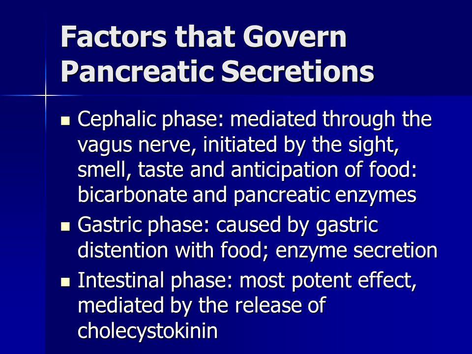 Factors that Govern Pancreatic Secretions