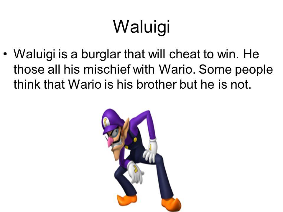 Waluigi Waluigi is a burglar that will cheat to win.