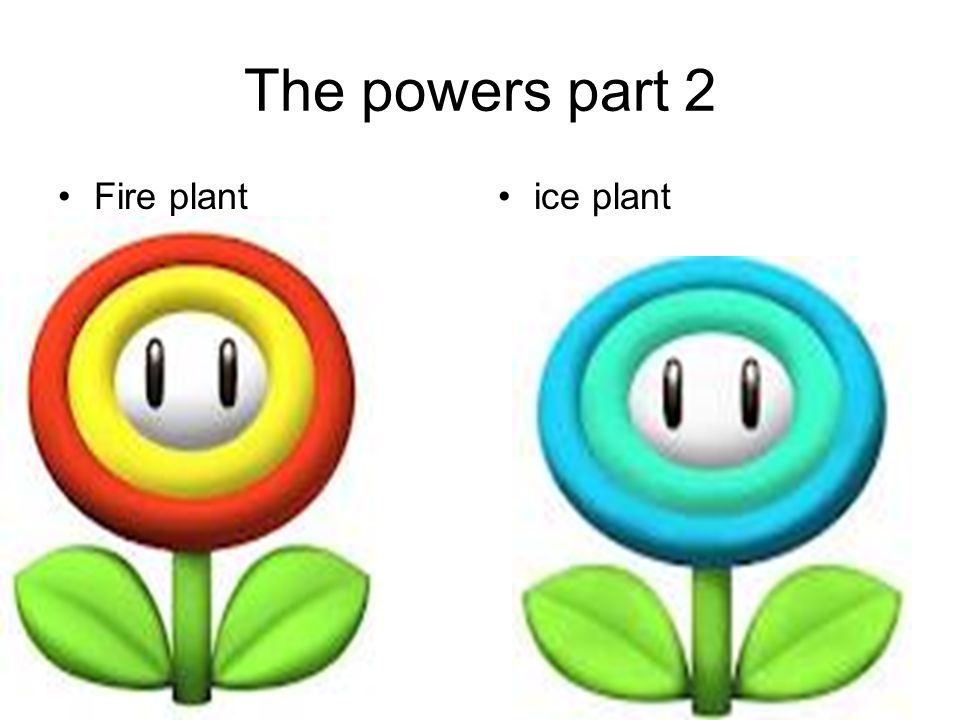 The powers part 2 Fire plant ice plant