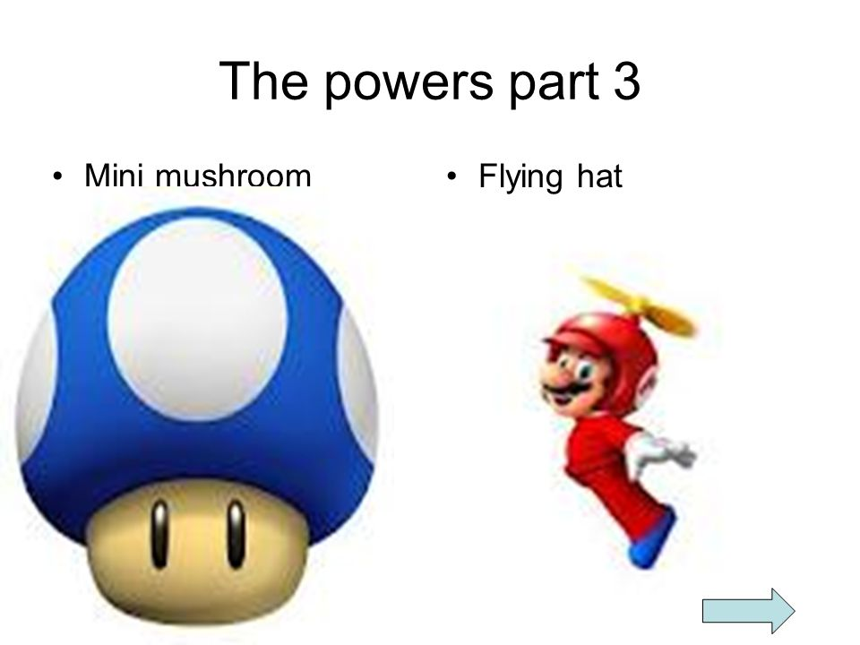 The powers part 3 Mini mushroom Flying hat