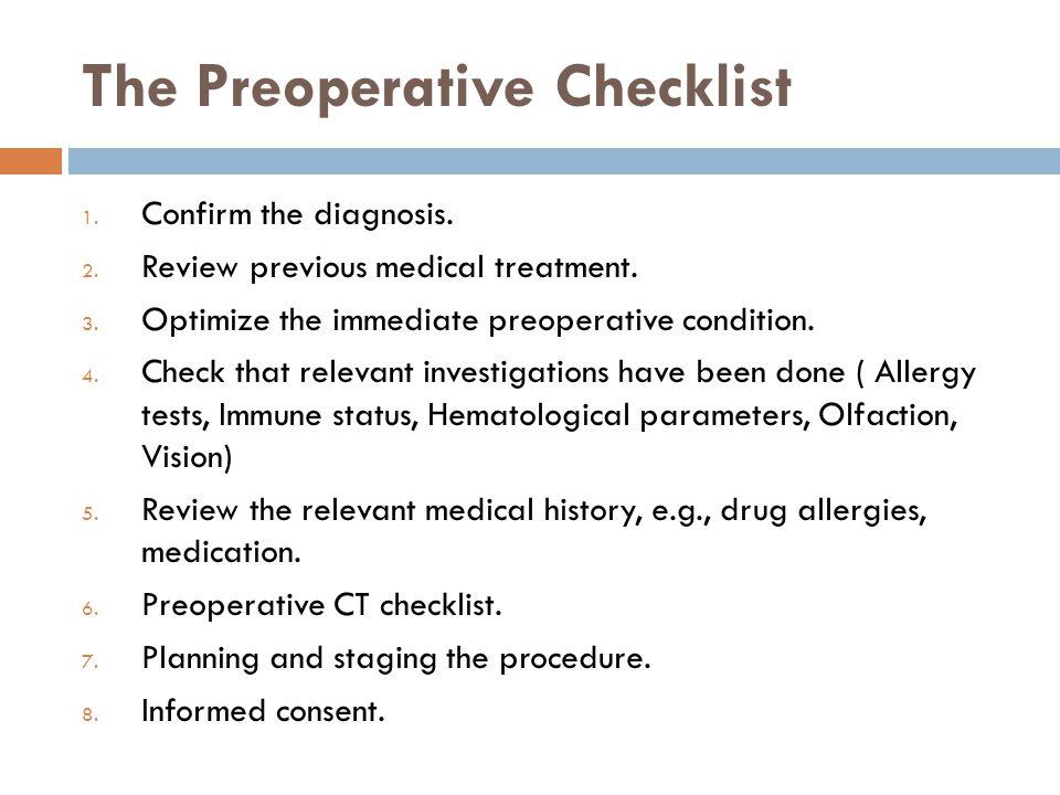 The Preoperative Checklist