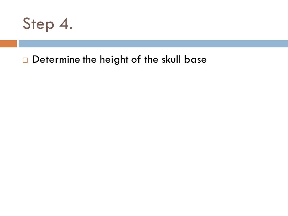 Step 4. Determine the height of the skull base