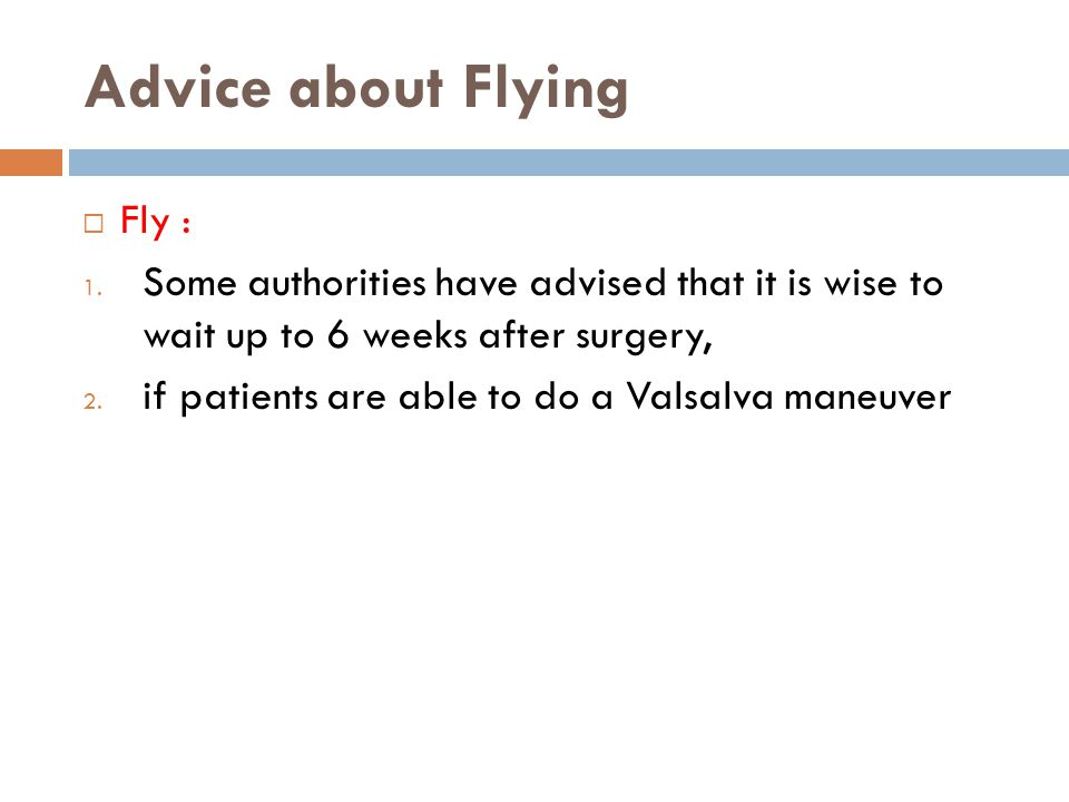 Advice about Flying Fly :