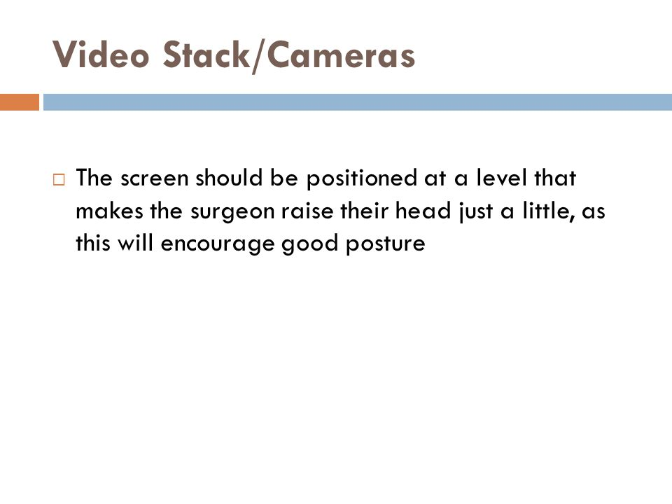 Video Stack/Cameras