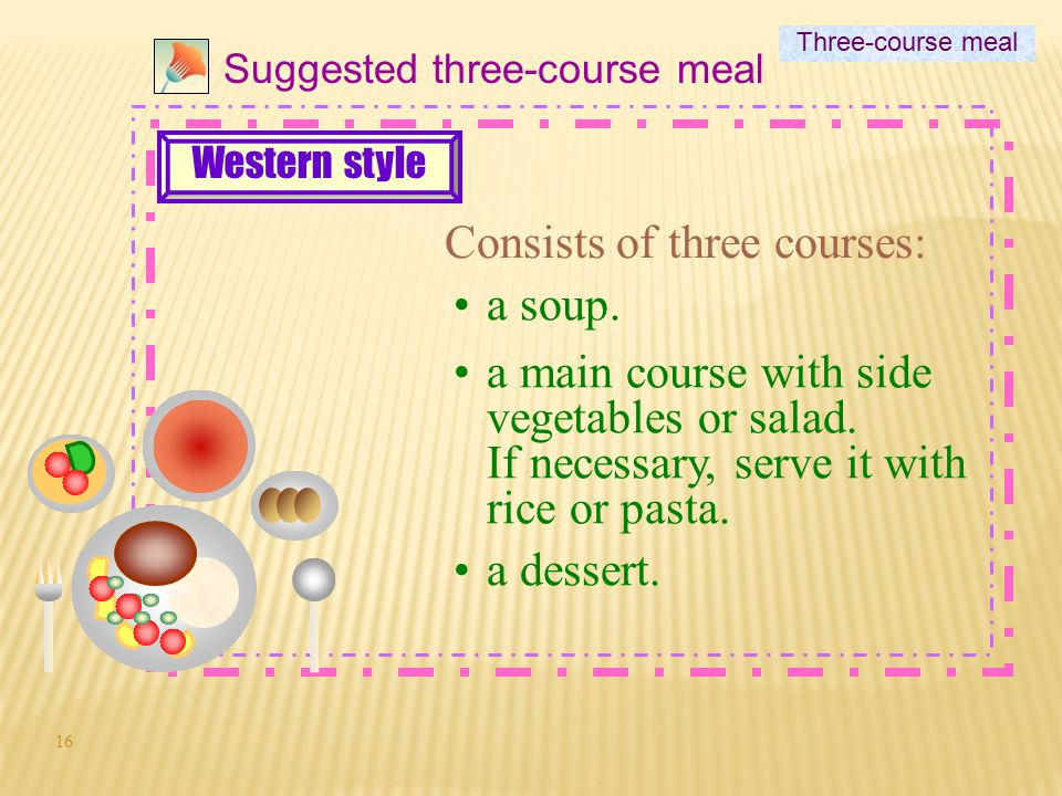 Consists of three courses: