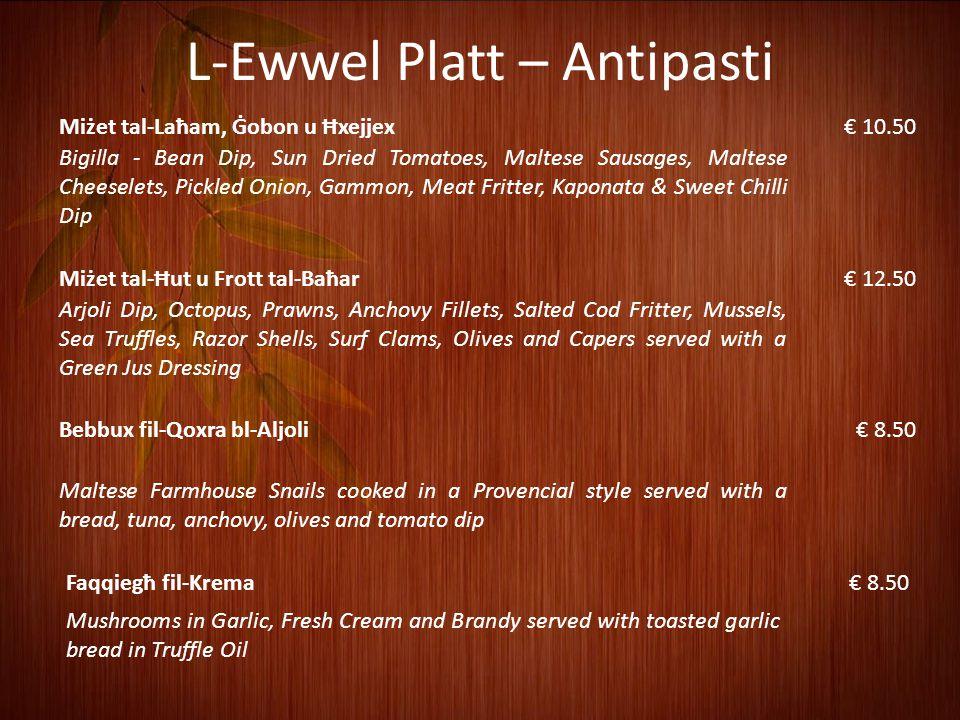 L-Ewwel Platt – Antipasti