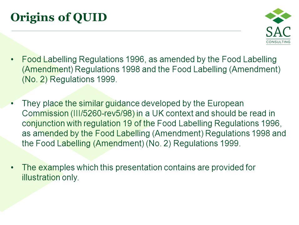 Origins of QUID