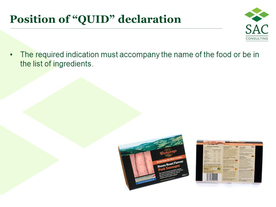 Position of QUID declaration