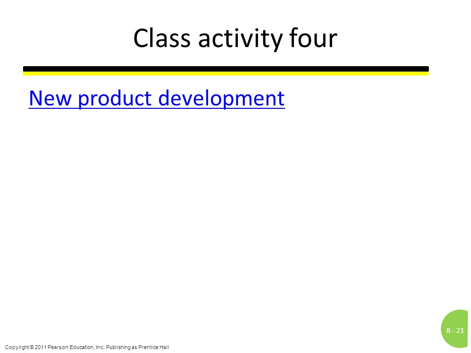 Class activity four New product development