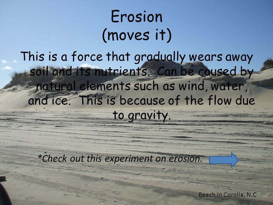 Erosion (moves it)