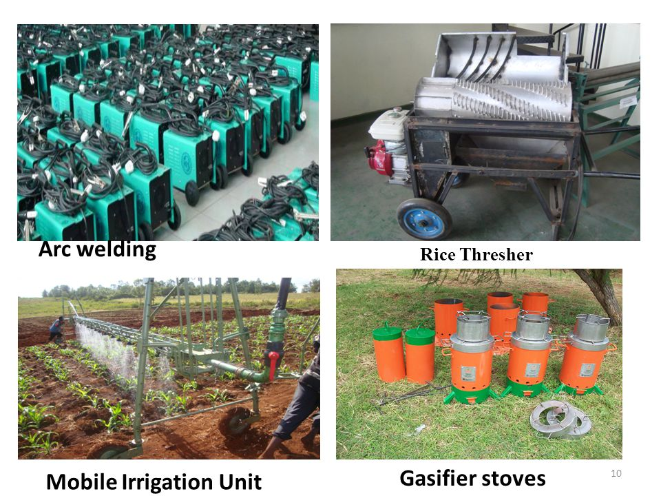 Rice Thresher Arc welding Gasifier stoves Mobile Irrigation Unit