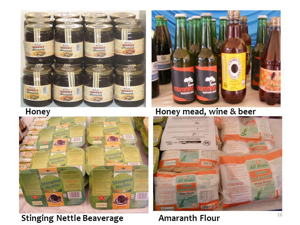 Honey Honey mead, wine & beer Stinging Nettle Beaverage Amaranth Flour