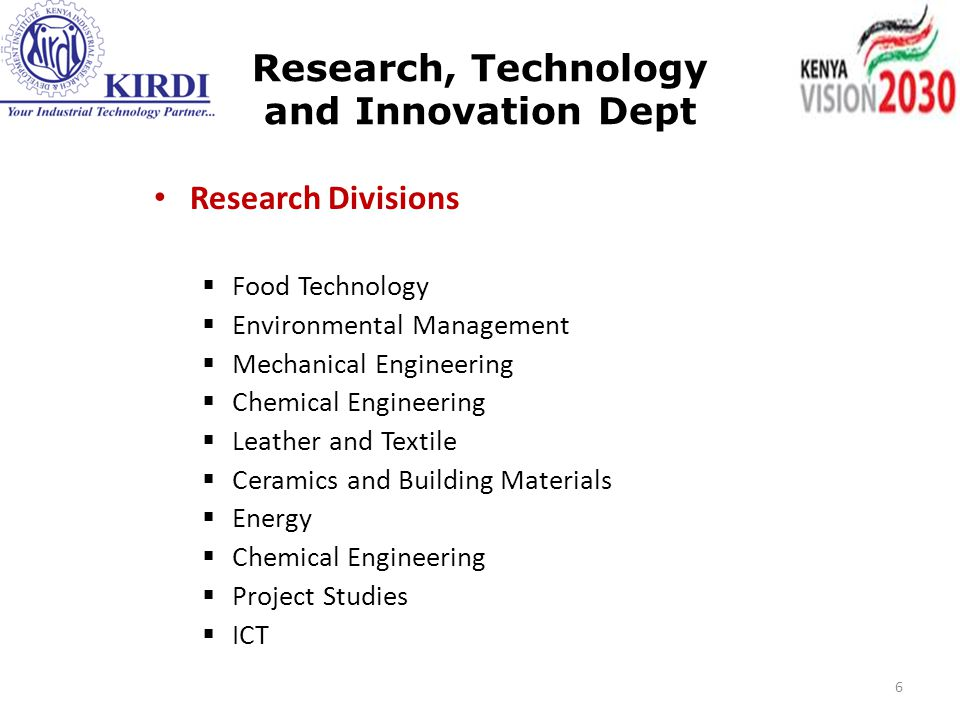 Research, Technology and Innovation Dept