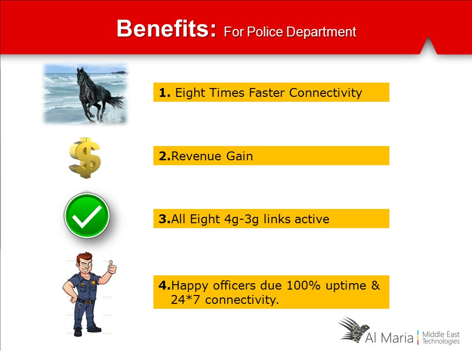Benefits: For Police Department