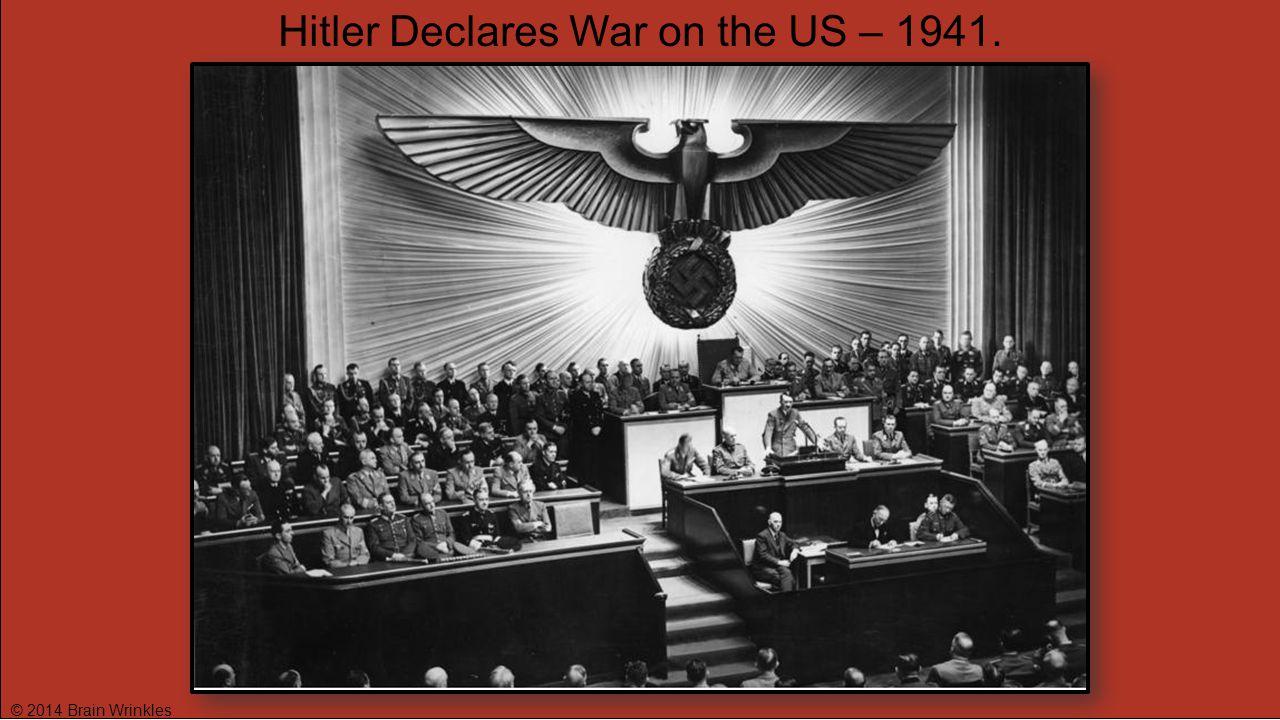 Hitler Declares War on the US – 1941.