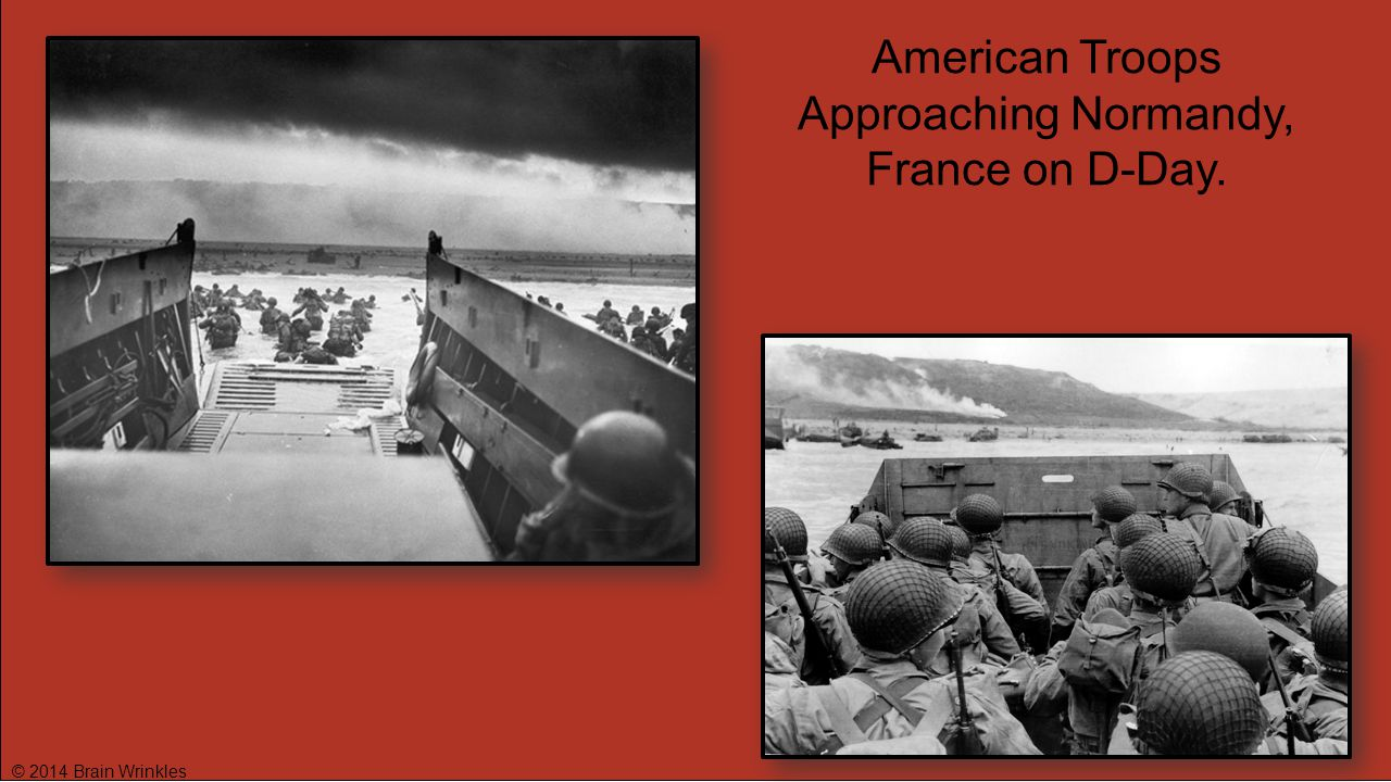 American Troops Approaching Normandy, France on D-Day.