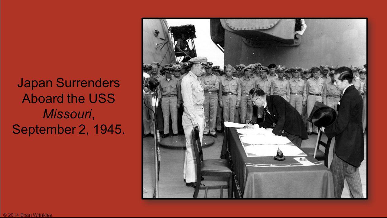 Japan Surrenders Aboard the USS Missouri,