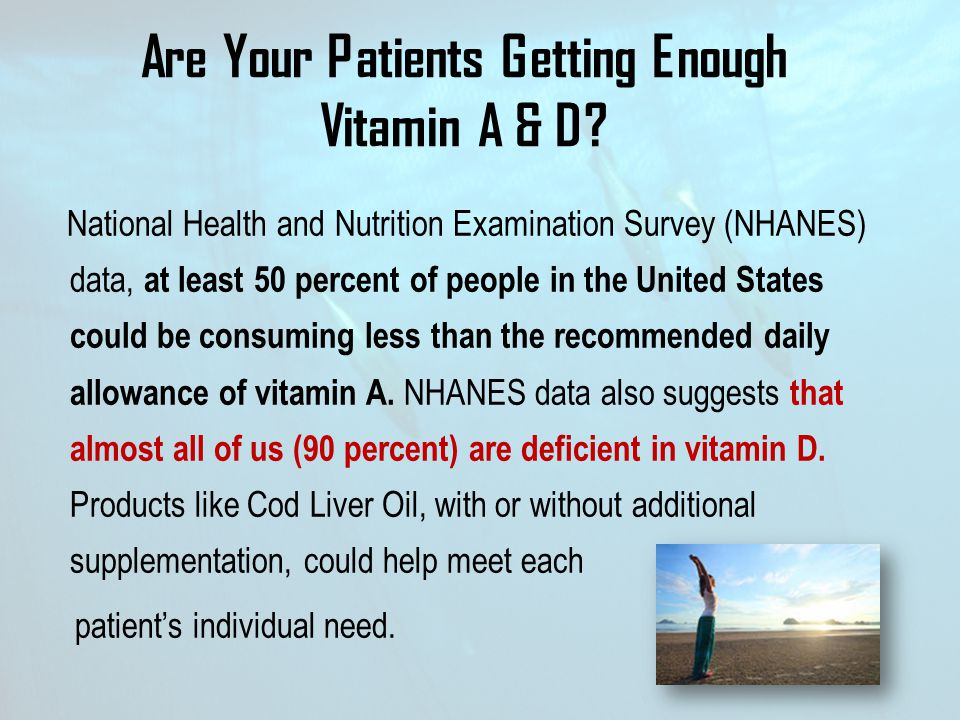 Are Your Patients Getting Enough Vitamin A & D