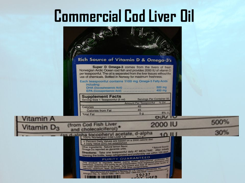 Commercial Cod Liver Oil