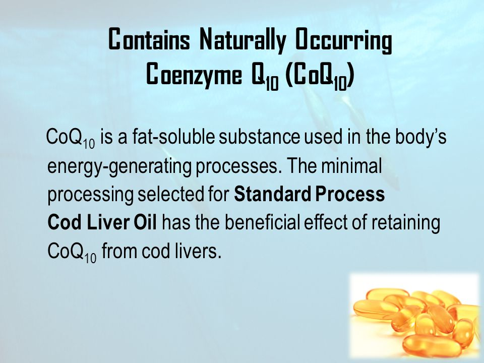 Contains Naturally Occurring Coenzyme Q10 (CoQ10)