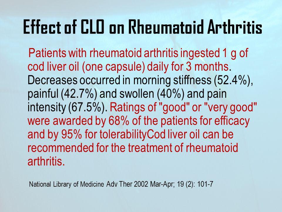 Effect of CLO on Rheumatoid Arthritis