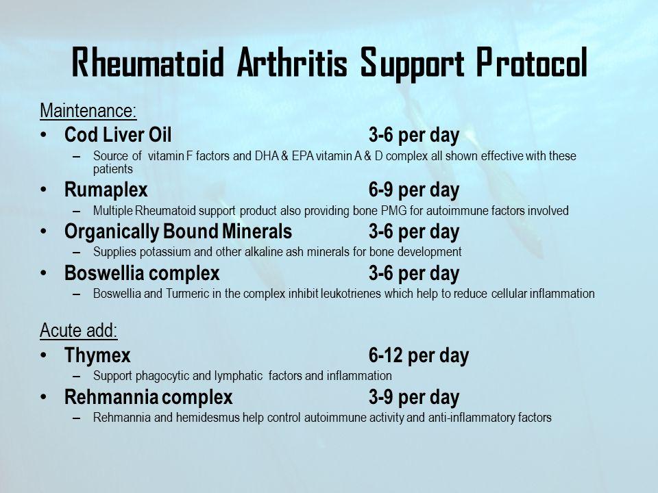 Rheumatoid Arthritis Support Protocol