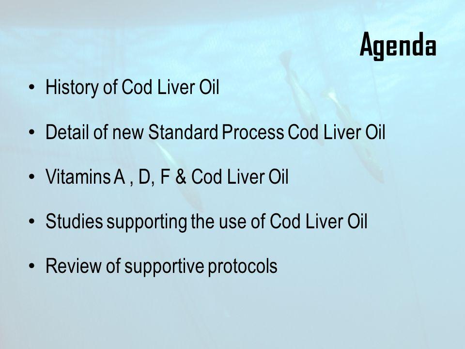 Agenda History of Cod Liver Oil