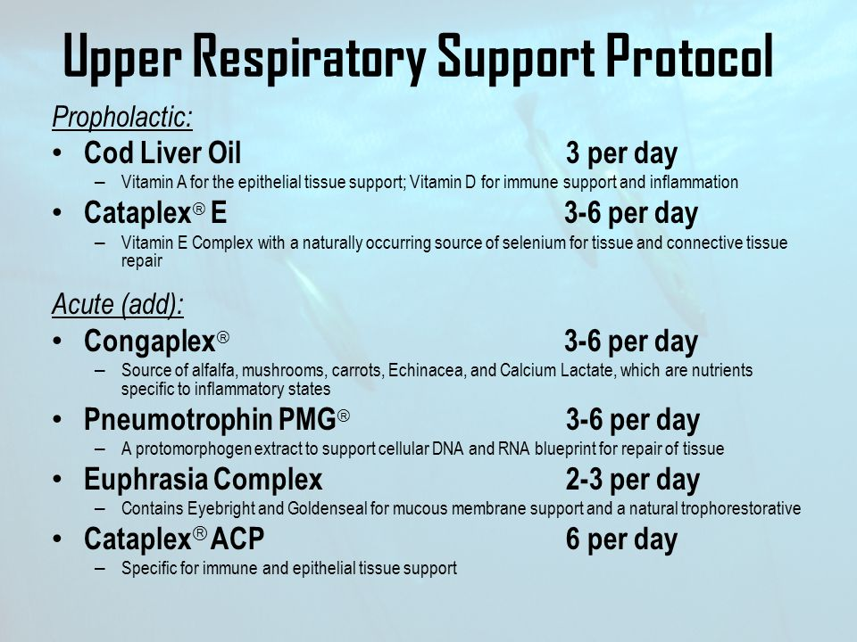 Upper Respiratory Support Protocol