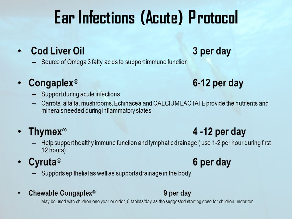 Ear Infections (Acute) Protocol