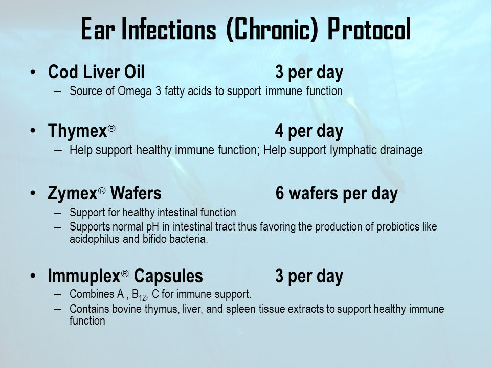 Ear Infections (Chronic) Protocol