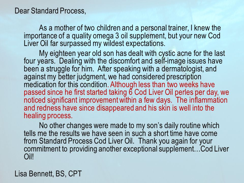 Dear Standard Process,