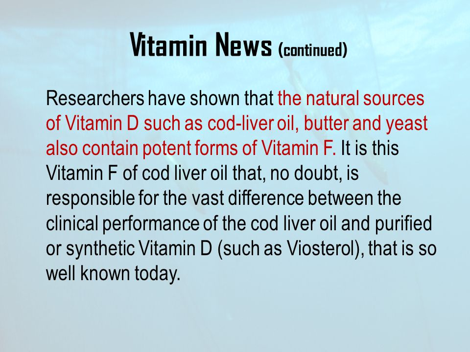 Vitamin News (continued)