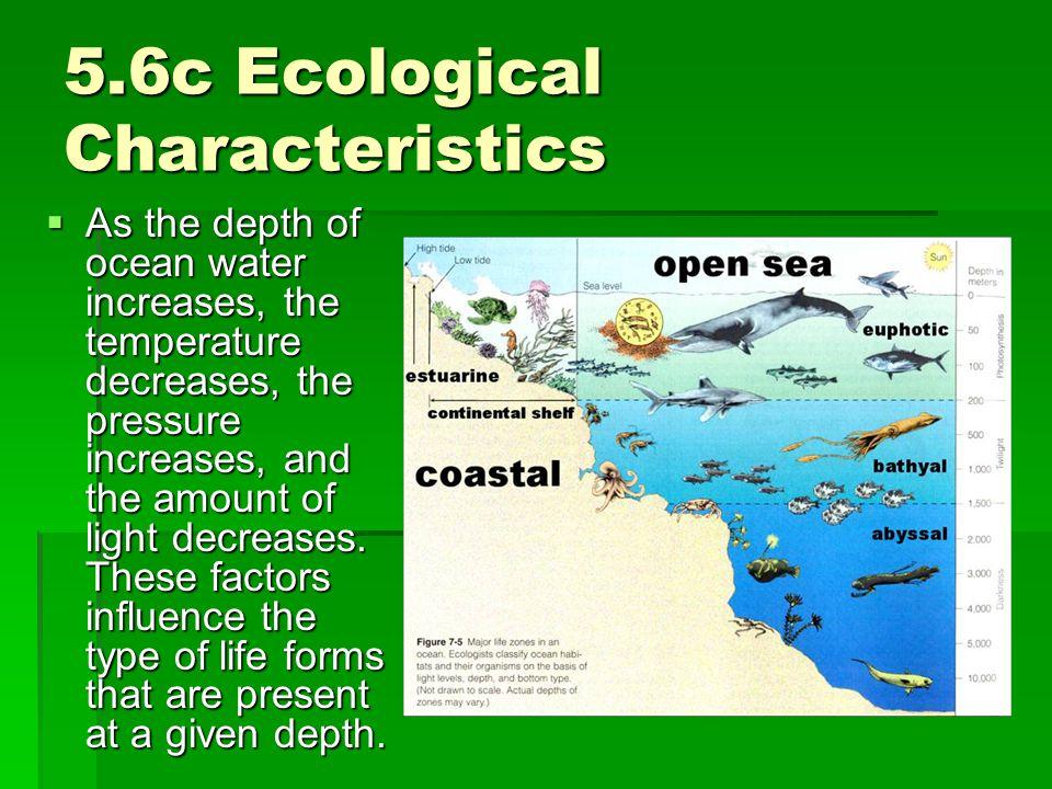5.6c Ecological Characteristics