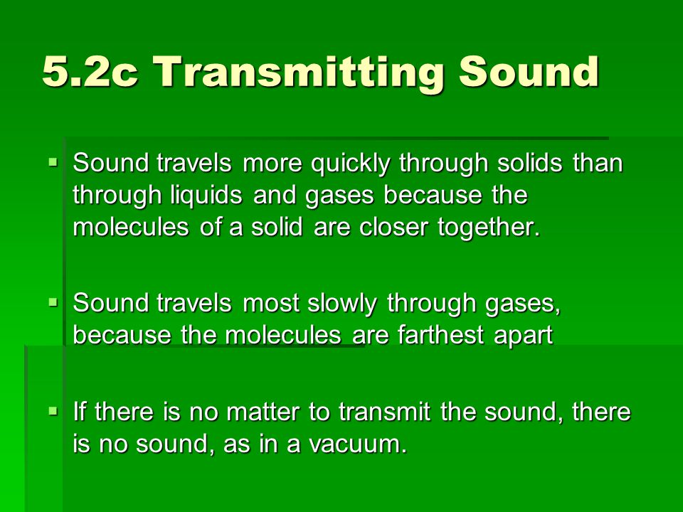 5.2c Transmitting Sound